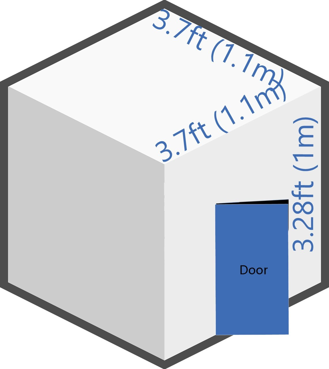 self storage room size