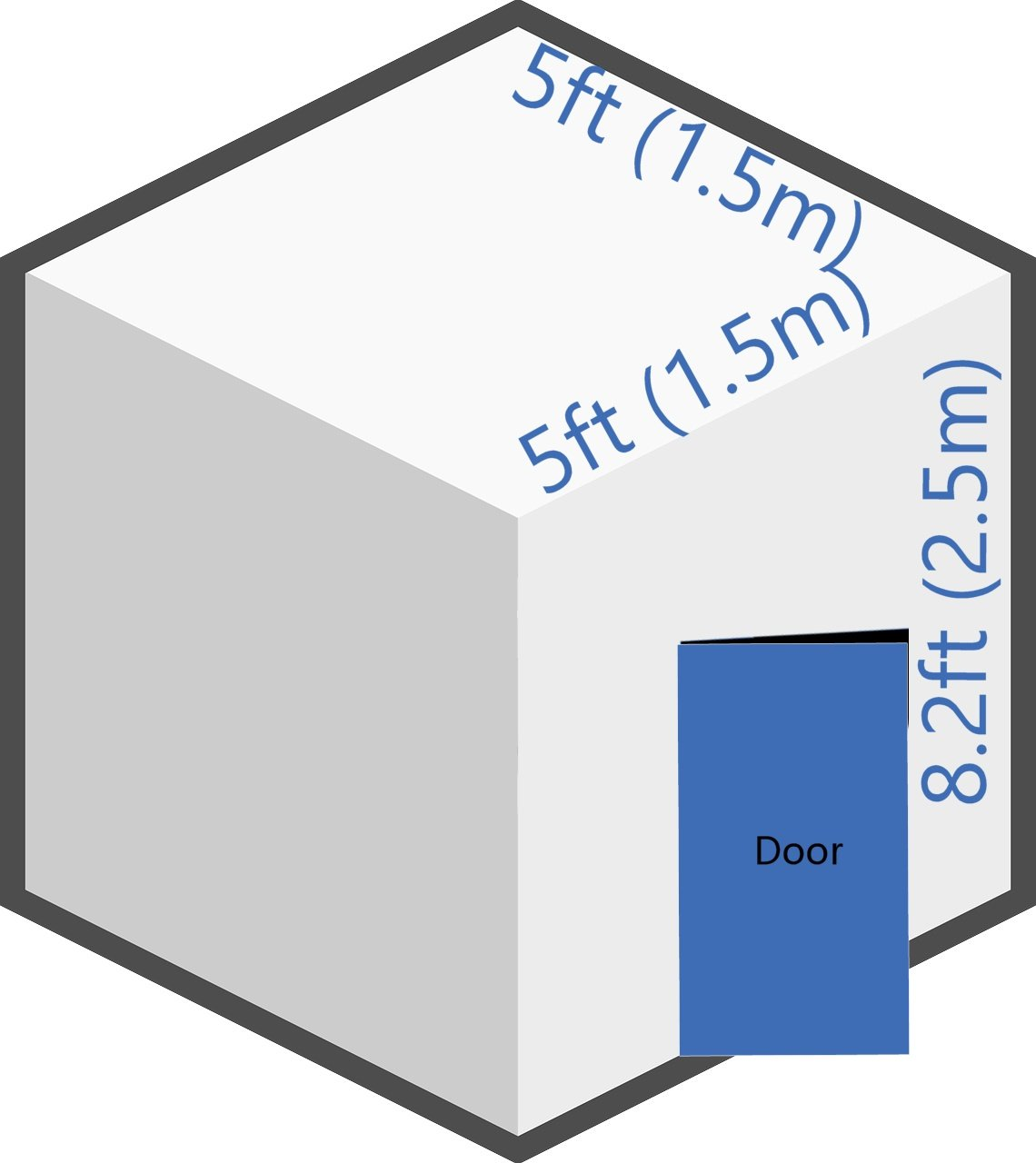 extra small storage room dimensions
